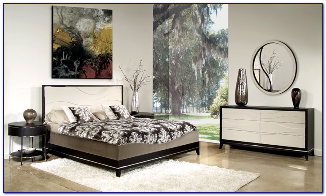 Black And White Lacquer Bedroom Furniture