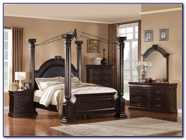 Black Canopy Bedroom Furniture Sets