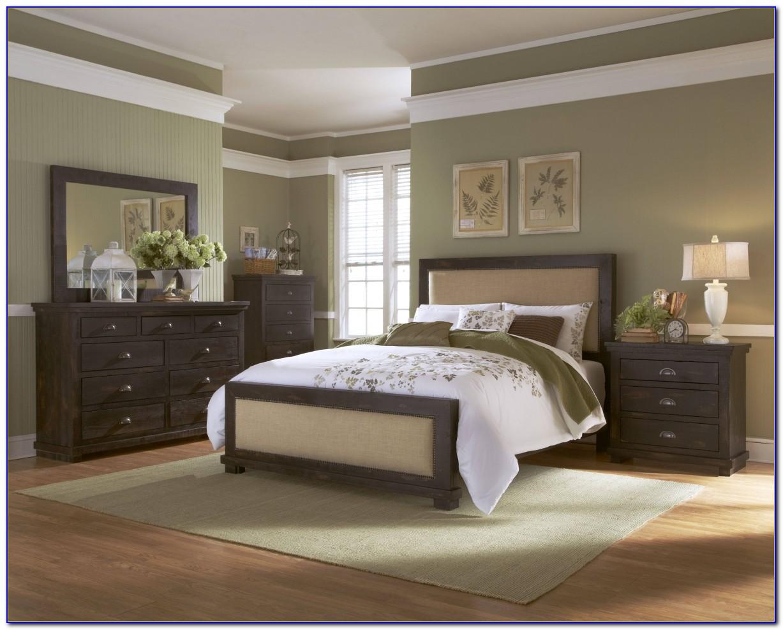 Black Distressed Nightstand Bedroom Furniture