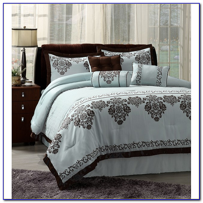 Blue And Brown Comforter Sets King Size