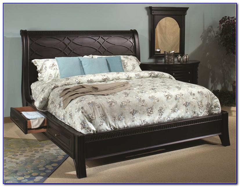 Calvin Black Sleigh Bedroom Set