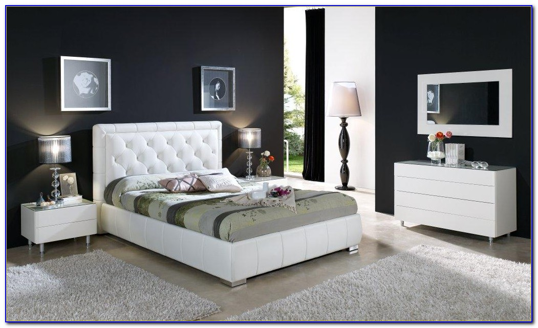 Contemporary White Gloss Bedroom Furniture
