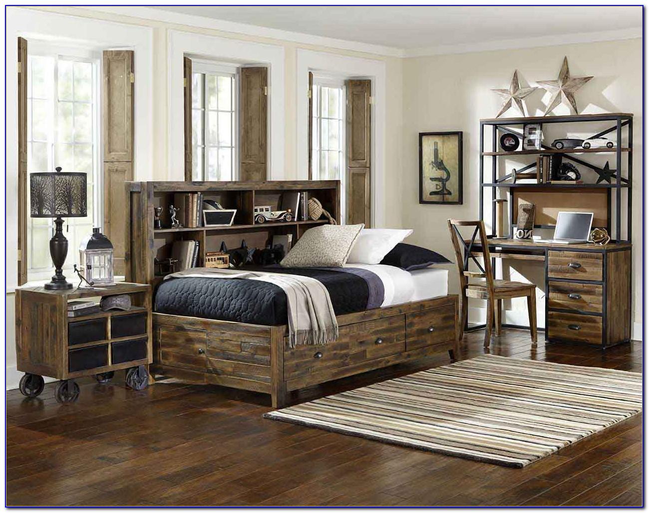 Dark Distressed Wood Bedroom Furniture