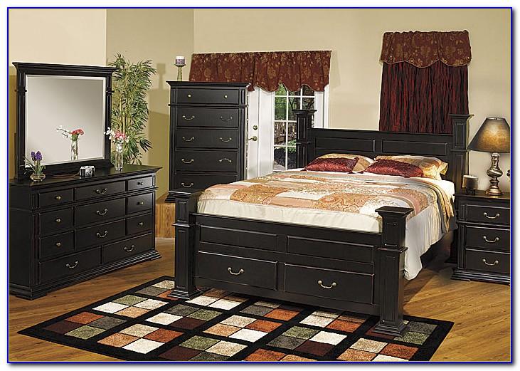 Distressed Black Wood Bedroom Furniture