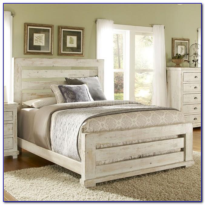 Distressed White Queen Bedroom Set