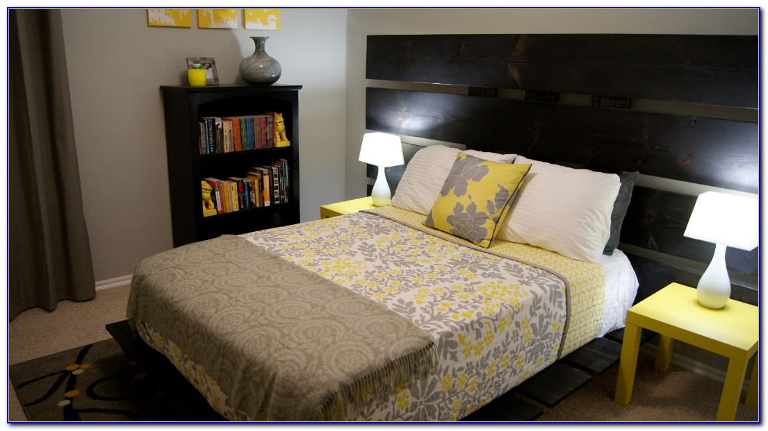 Grey And Yellow Bedroom Accessories