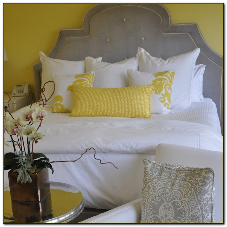 Grey And Yellow Bedroom Wallpaper