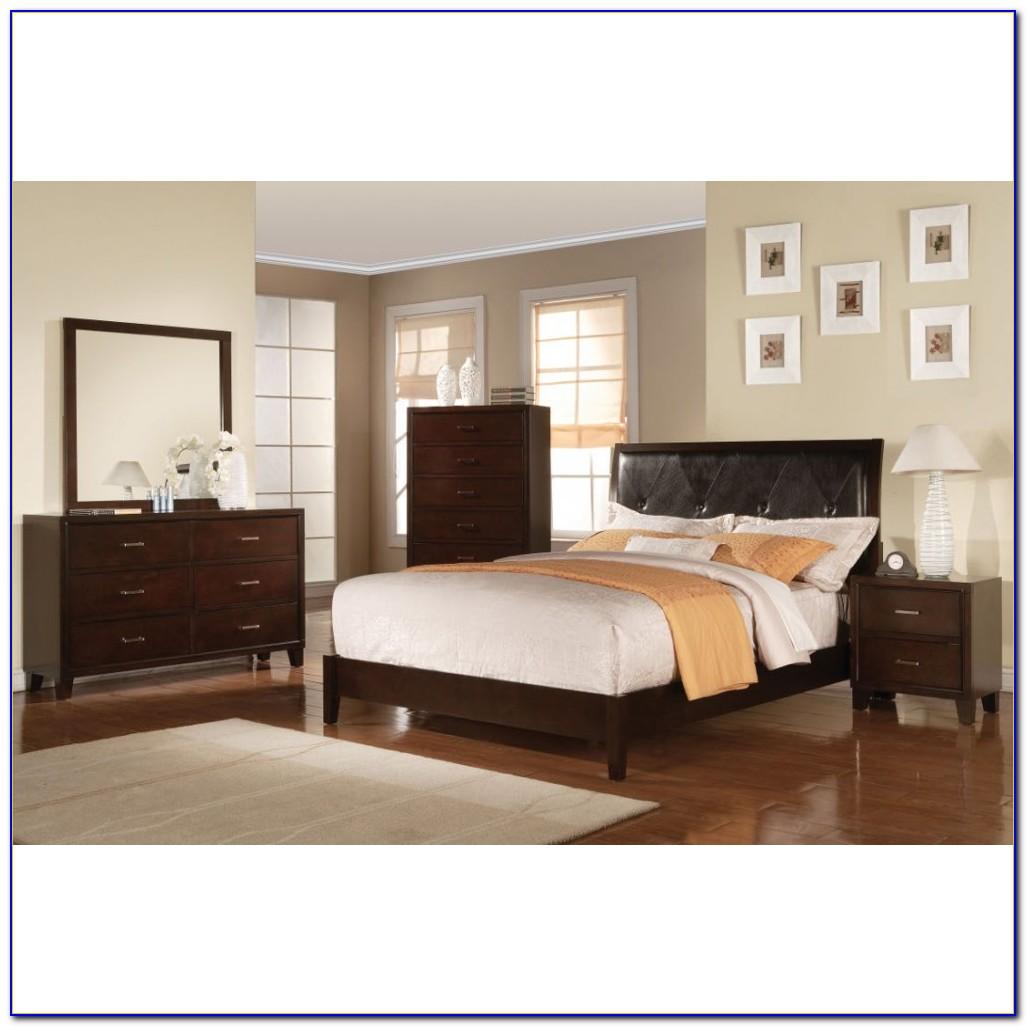 Ireland Black Pu Eastern King Bedroom Set