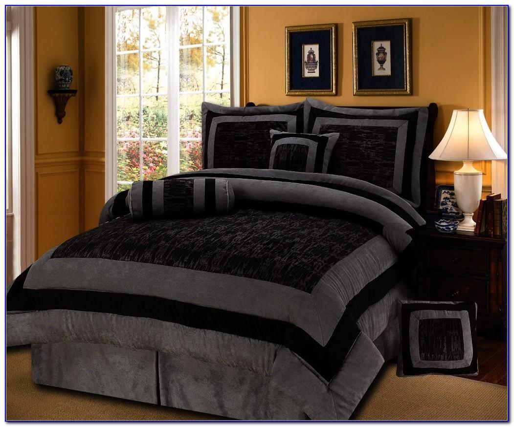 King Size Black Lacquer Bedroom Set