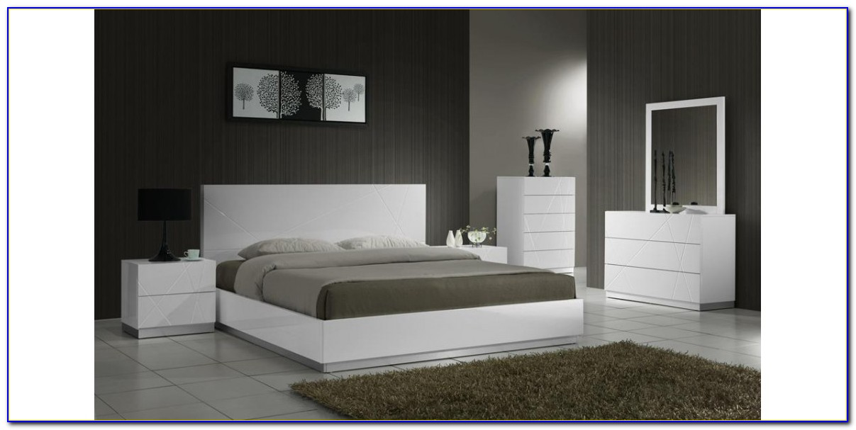 Modern White Lacquer Bedroom Furniture