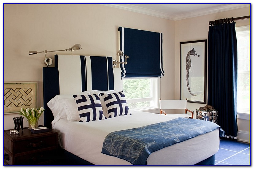 Navy And White Bedroom Design