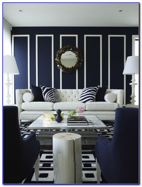 Navy Blue And White Bedrooms