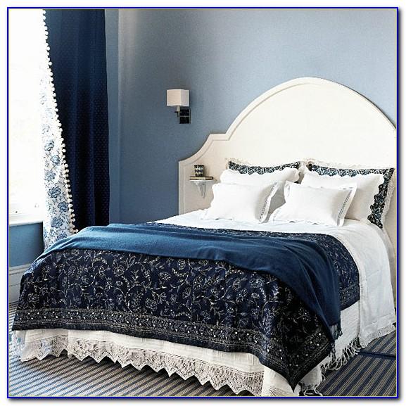 Navy Blue Eyelet Bedroom Curtains