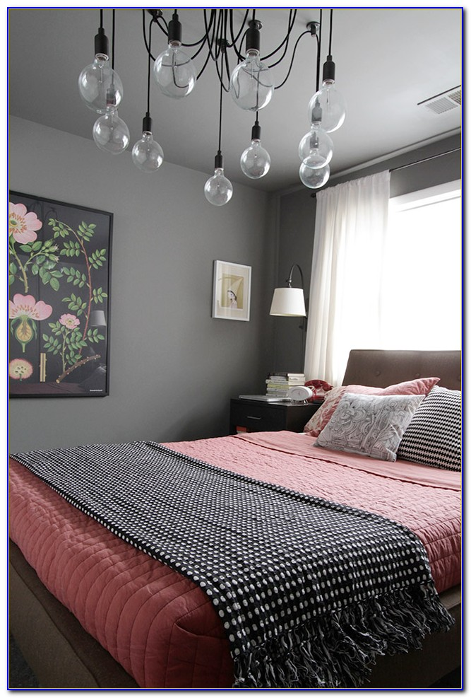 Pink And Gray Bedroom Design