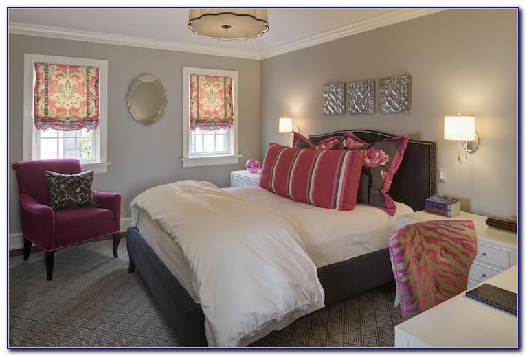 Pink And Grey Chevron Room Decor