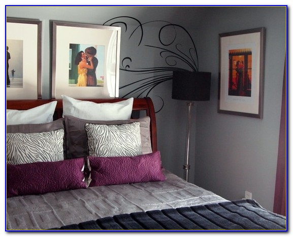 Purple And Grey Bedroom Theme