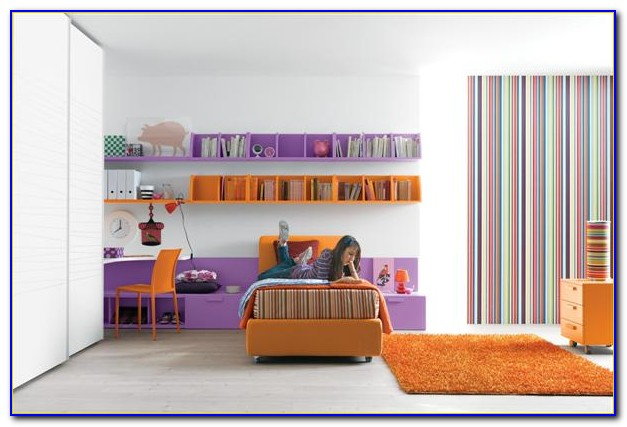 Purple And Orange Bedroom Decor
