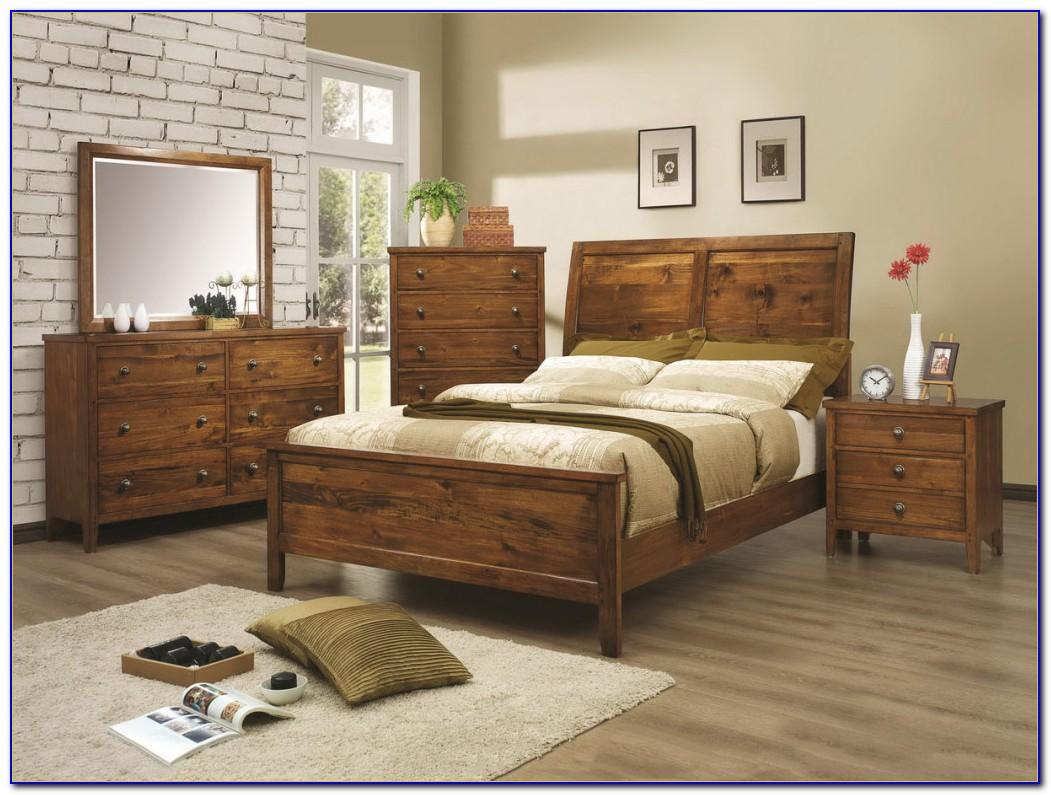 Rustic Dark Wood Bedroom Furniture