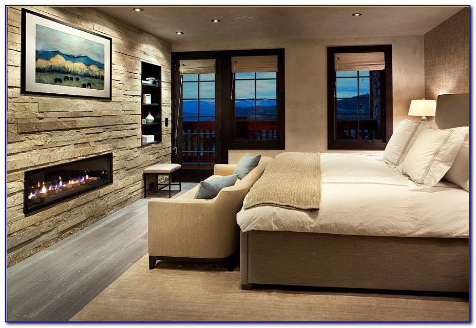 Stone Accent Wall Master Bedroom