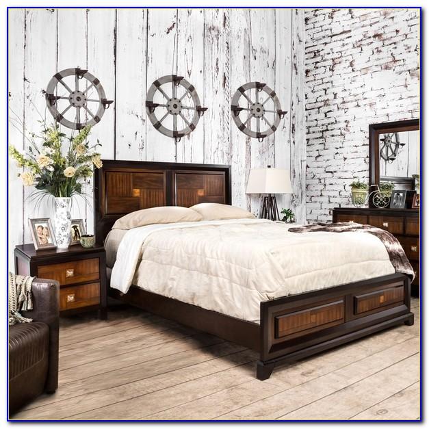 Two Tone Wood Bedroom Furniture