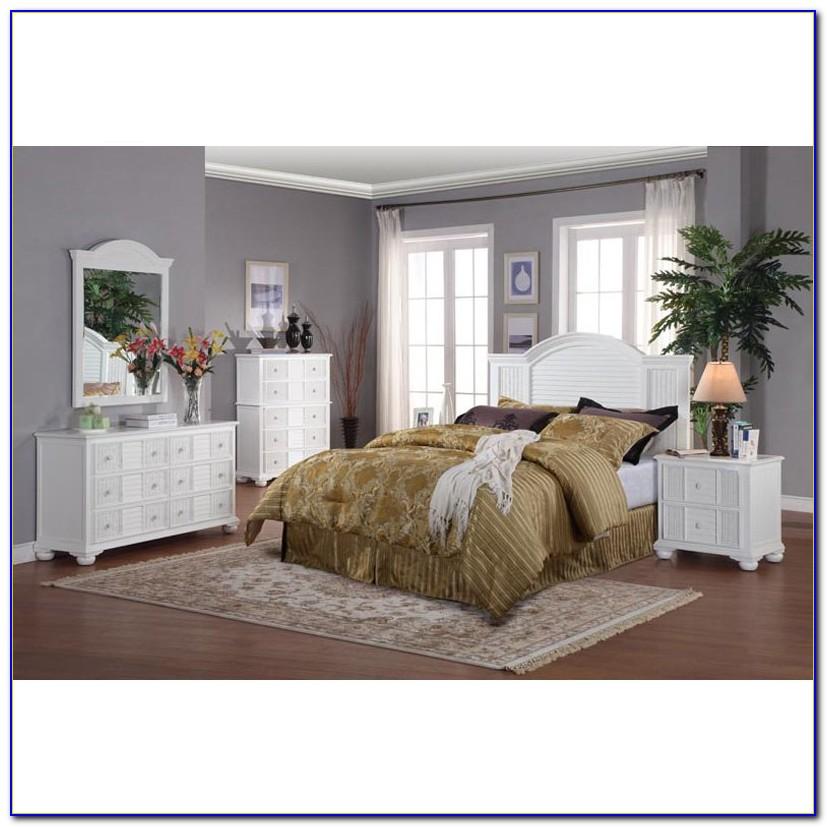 Used White Wicker Bedroom Set