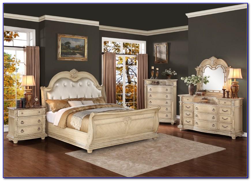 Vintage Look White Bedroom Furniture