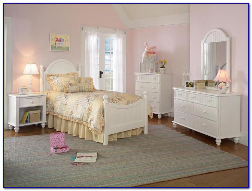 White Wood Twin Bedroom Set
