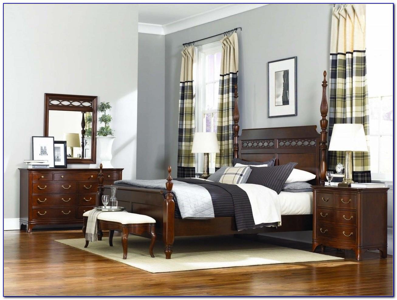 American Drew Oak Bedroom Set