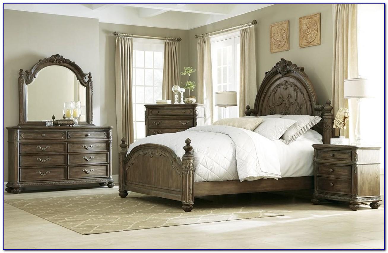 American Drew Sleigh Bedroom Set