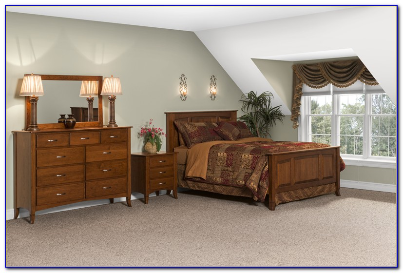 Amish Made Oak Bedroom Furniture