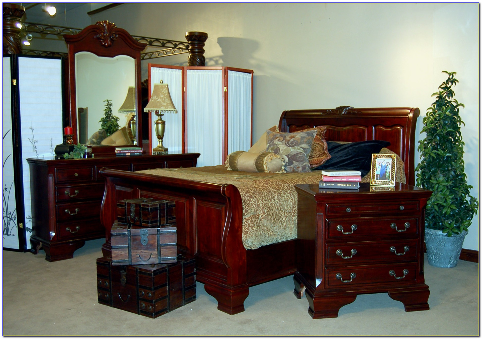 Antique Solid Mahogany Bedroom Set