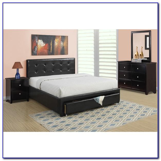 Black 4 Piece Bedroom Furniture Set