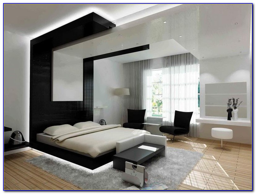 Black And White Contemporary Bedroom Ideas