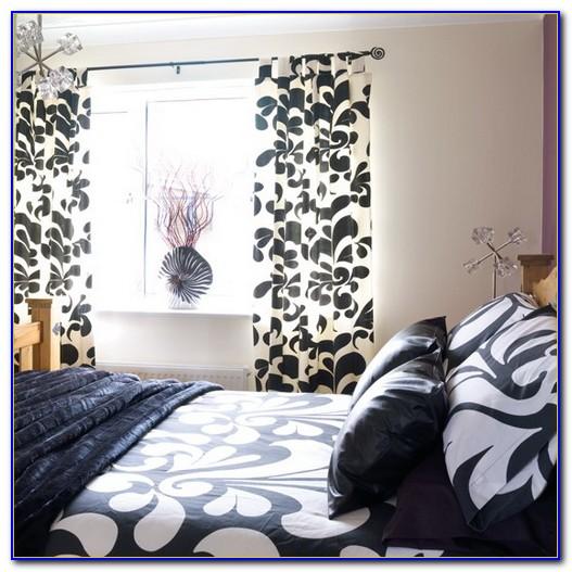 Black And White Damask Wallpaper Bedroom