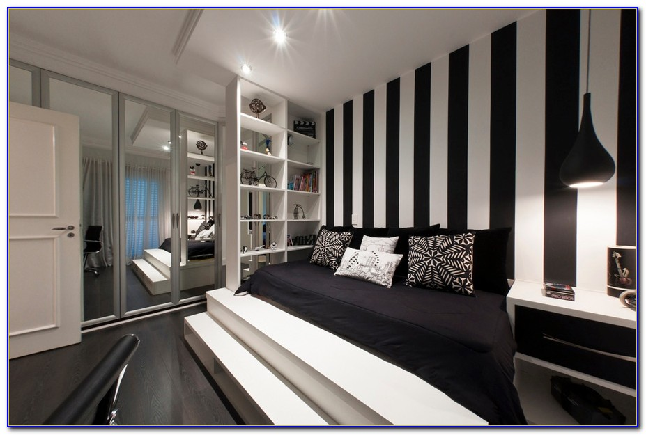 Black And White Striped Wallpaper Bedroom Ideas Bedroom Home Design Ideas Bqk9pm4ylx