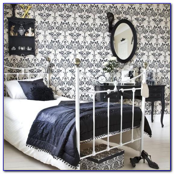 Black And White Vintage Wallpaper Bedroom