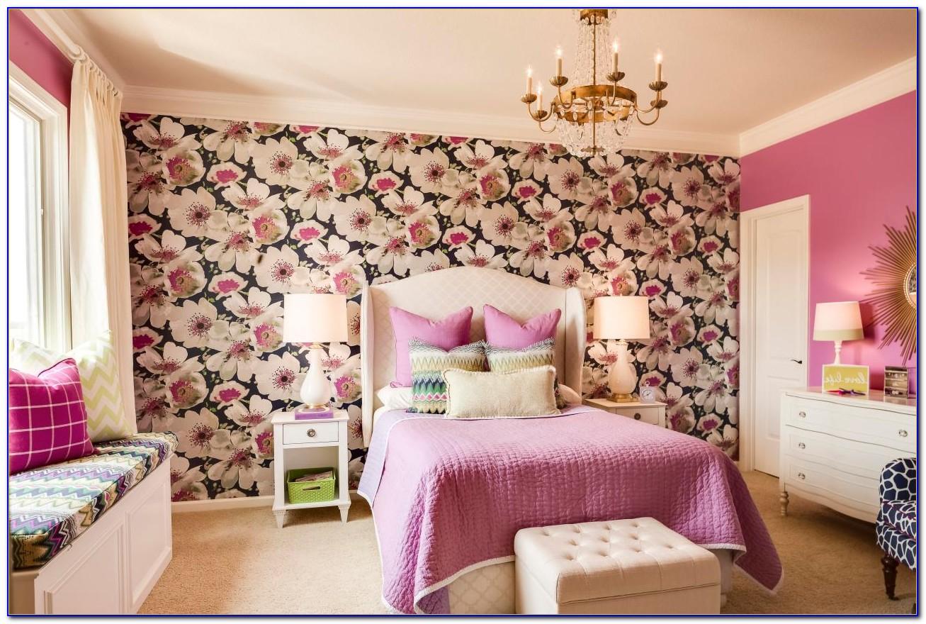 Blue And Purple Bedroom Wallpaper