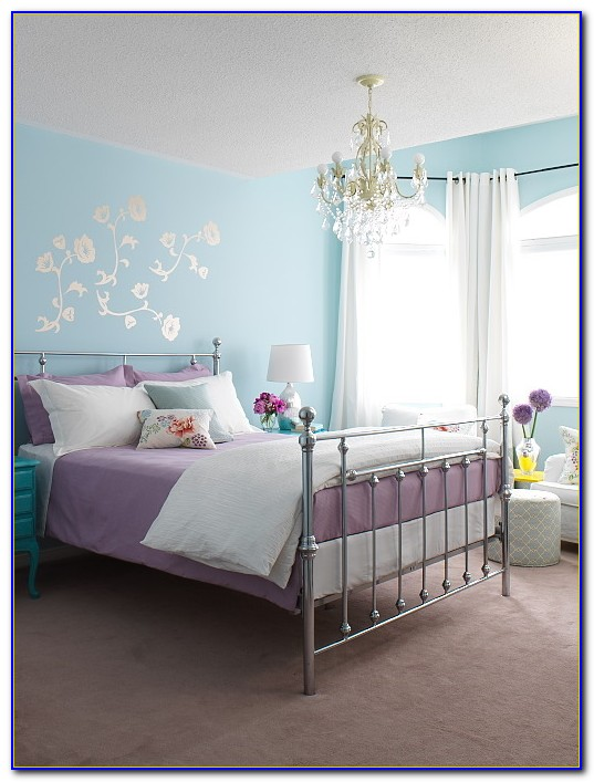 Blue And Purple Bedrooms Design