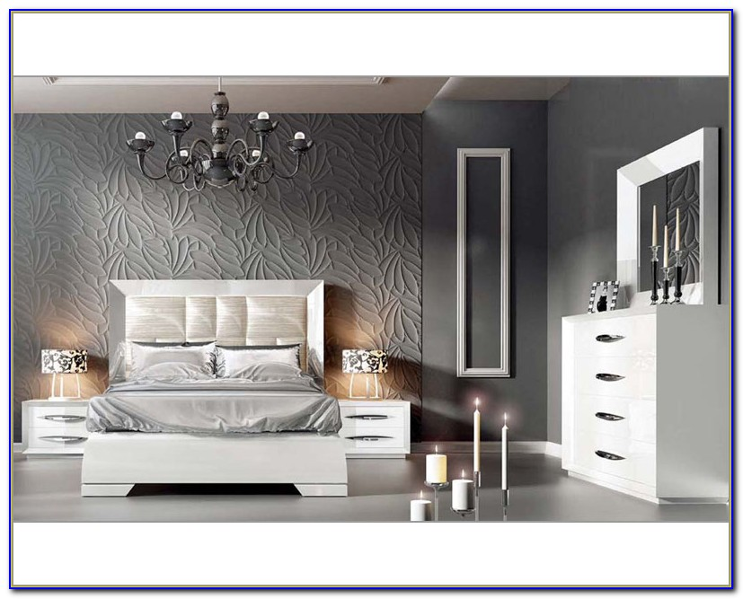 Contemporary White Bedroom Furniture Sets