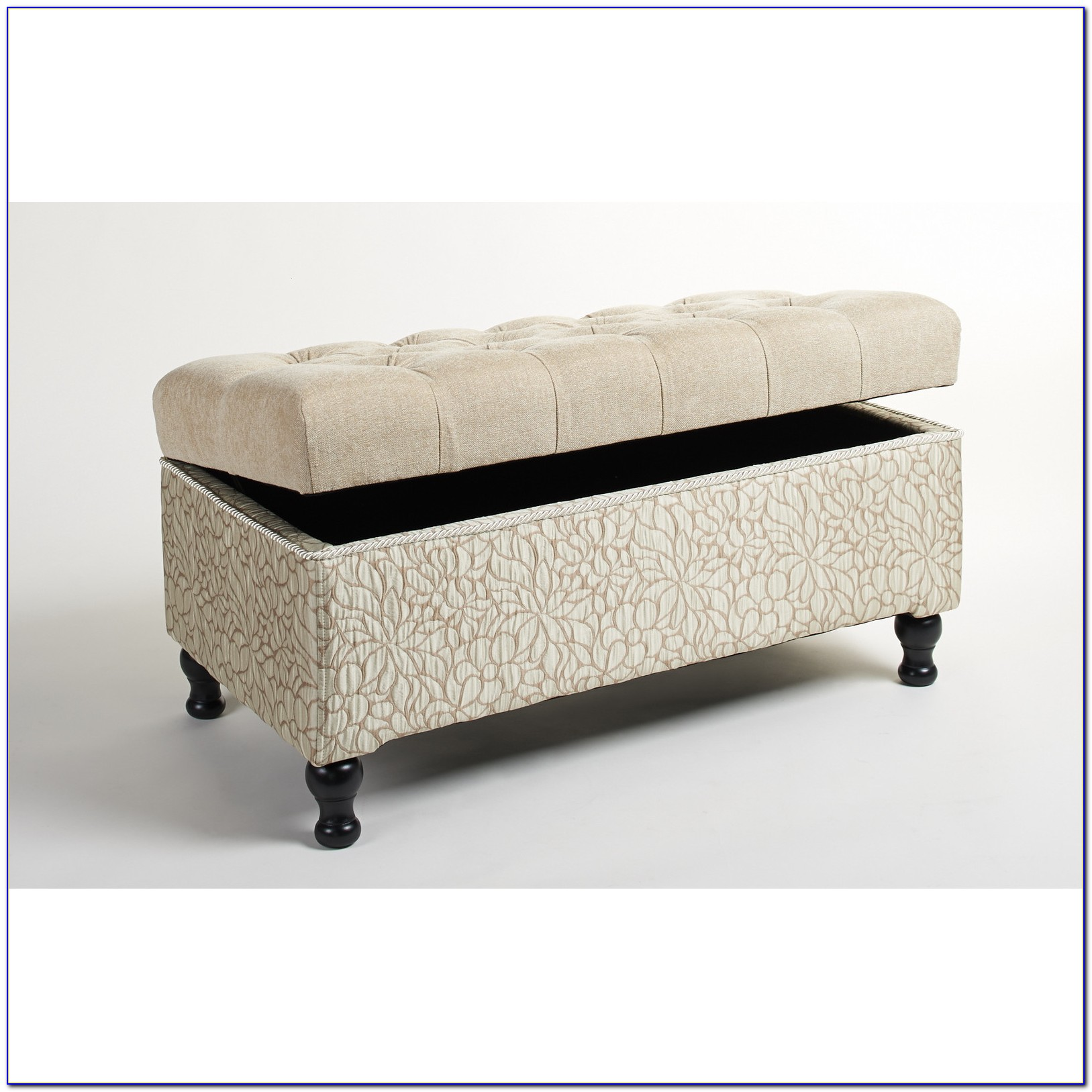 Evening Mist Upholstered Storage Bedroom Bench By Pri