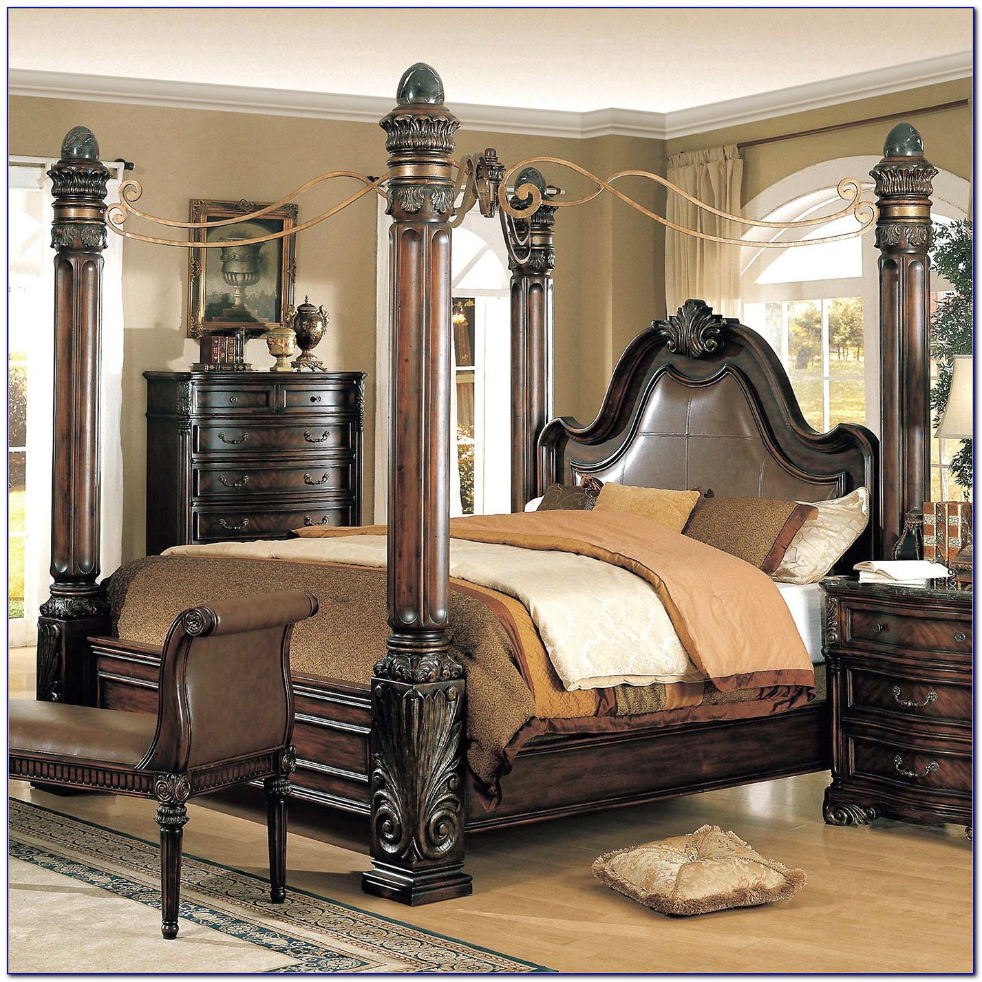 4 Post Bedroom Furniture Sets Bedroom Home Design Ideas