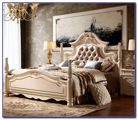 Hand Carved Mahogany Bedroom Furniture