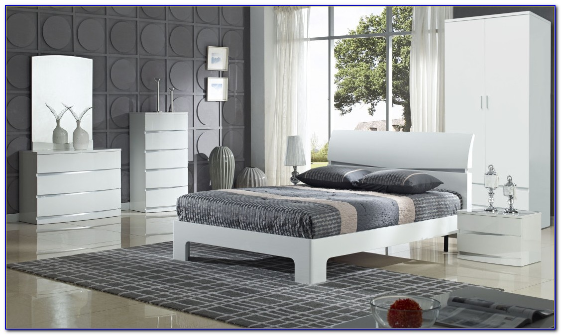 High Gloss Bedroom Furniture Set