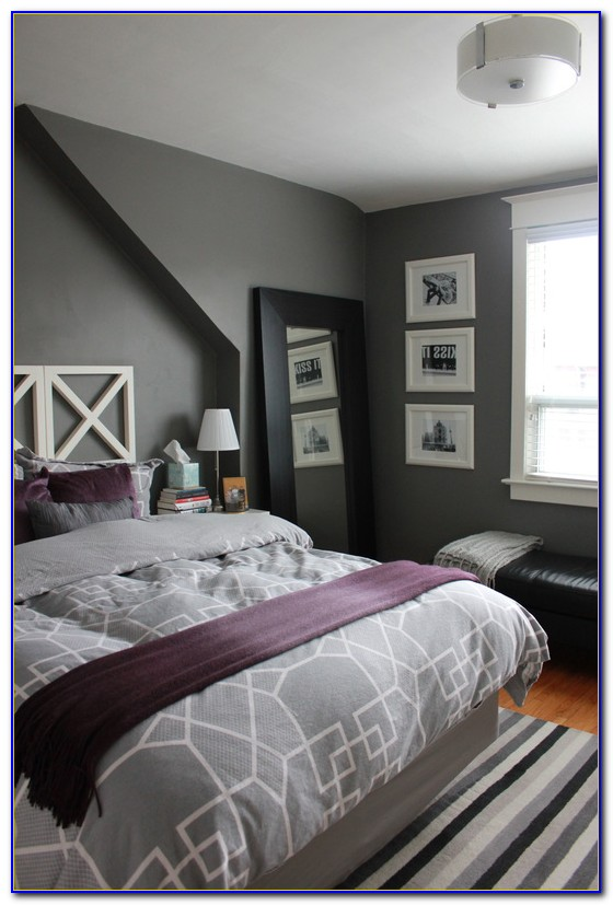 Purple And Gray Bedroom Images