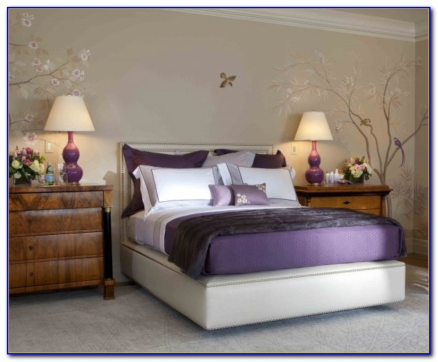 Purple And Gray Bedroom Inspiration