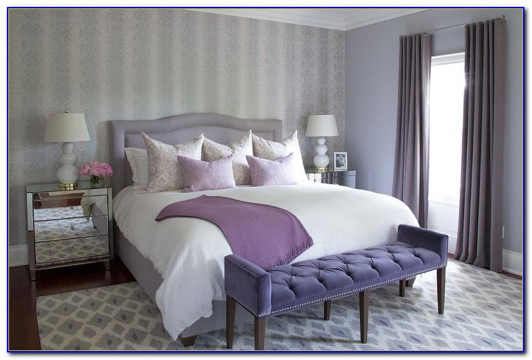 Purple And Gray Bedroom Pics