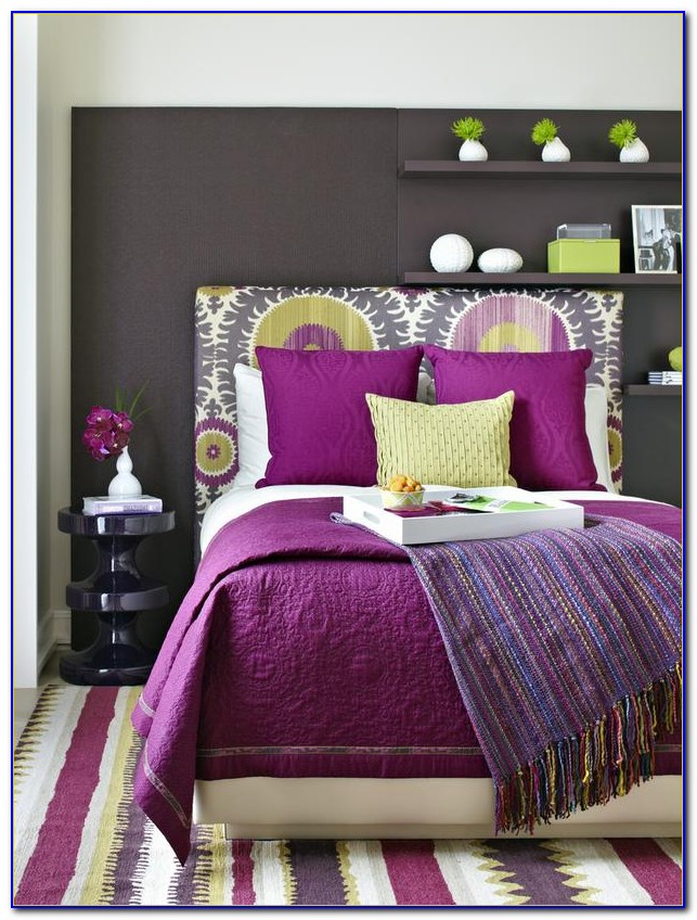 Purple And Gray Bedrooms