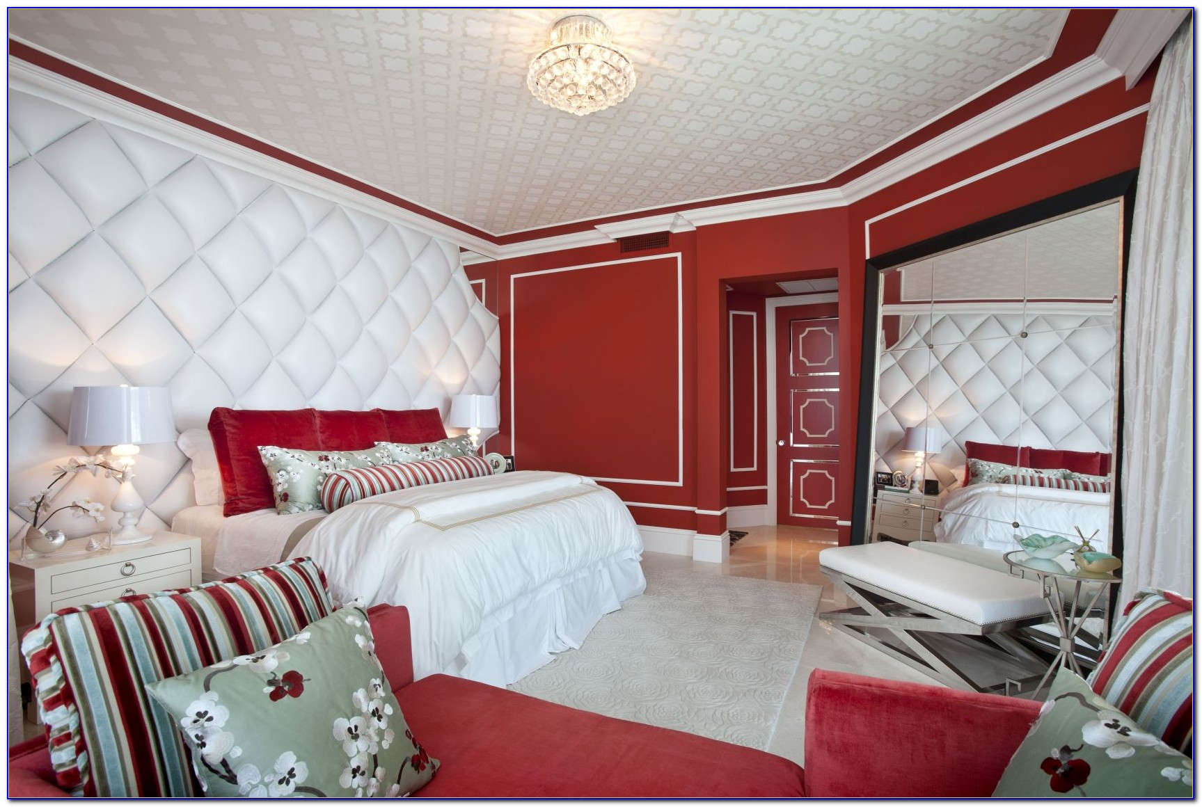 Red Black And White Bedroom Wallpaper