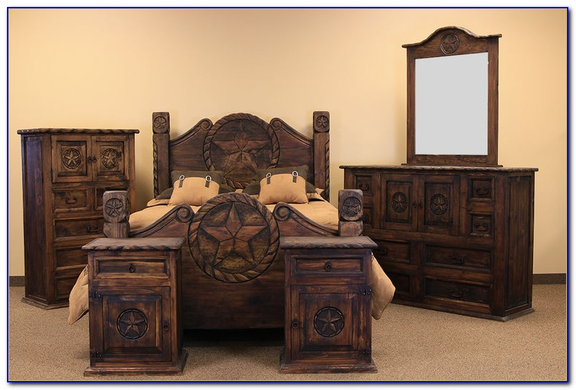 Rustic Pine Bedroom Furniture Set
