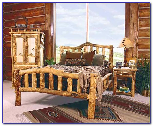 Rustic Pine Log Bedroom Furniture
